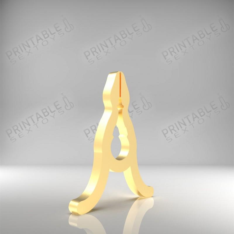 3D Printable Sextoys - Nipple Clamp - The Soft Golden Clamp