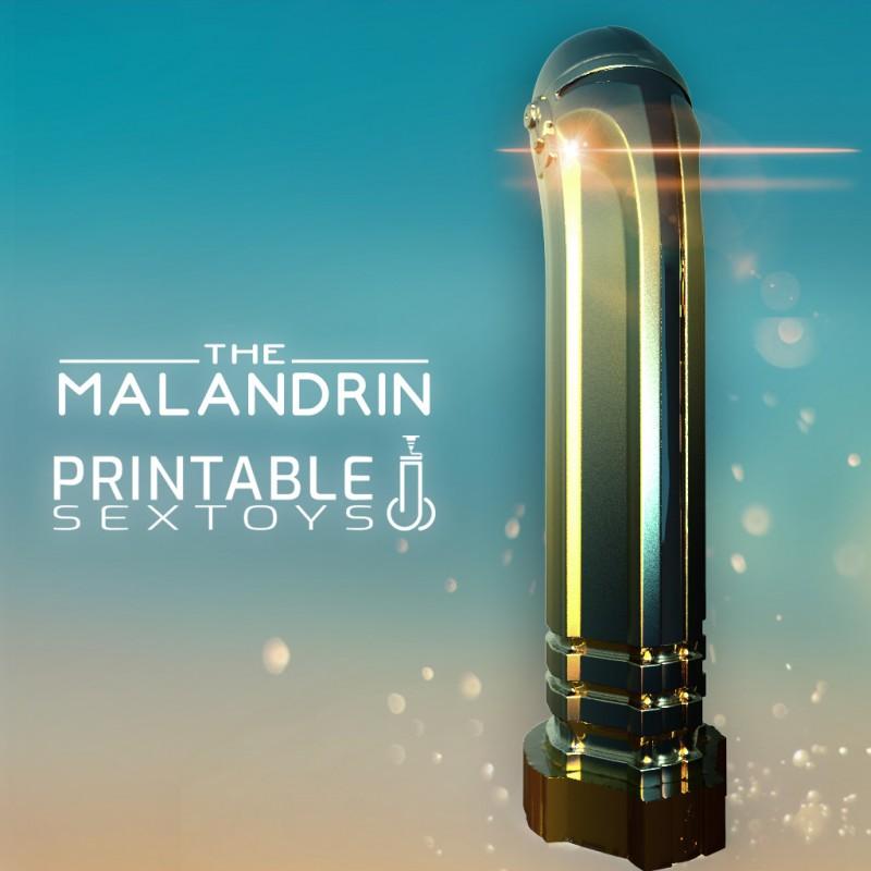 3D Printable Sextoys - Anal/Vaginal Dildo - The Malandrin