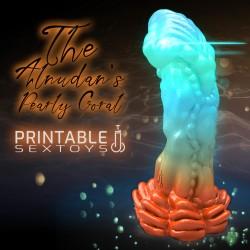 3D Printable Sextoys - Anal/Vaginal Dildo - The Alnudan's Reef Pearly Coral