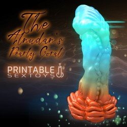 3D Printable Sextoys - Dildo Anal/Vaginal - Le Corail Perlé du Récif d'Alnudan
