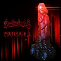 3D Printable Sextoys - Anal/Vaginal Dildo - Beelzebub's Dick