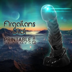 3D Printable Sextoys - Anal/Vaginal Dildo - The Argalian's Dick