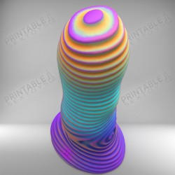 3D Printable Sextoys - Anal/Vaginal Dildo - The PureWave Alpha
